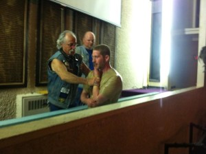 Baptism in the church tank