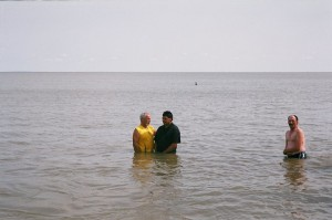 Baptism in the lake @ Gimli
